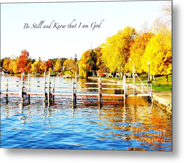 Fall In Skaneateles Ny Metal Print