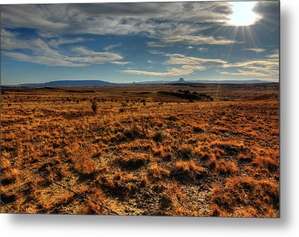 Fall In The High Desert Metal Print