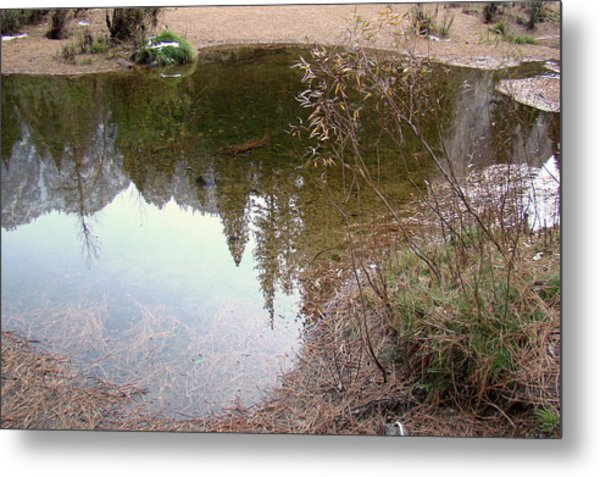 Fall Mirror Lake Reflections Metal Print