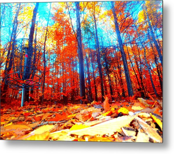 Fall On Fire Metal Print