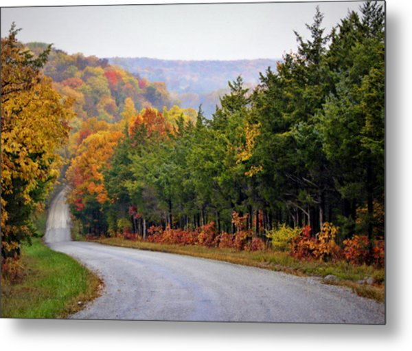 Fall On Fox Hollow Road Metal Print