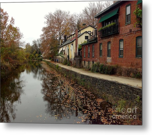 Fall On The Canal Metal Print
