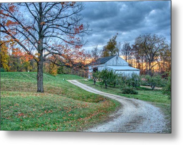 Fall On The Farm Metal Print