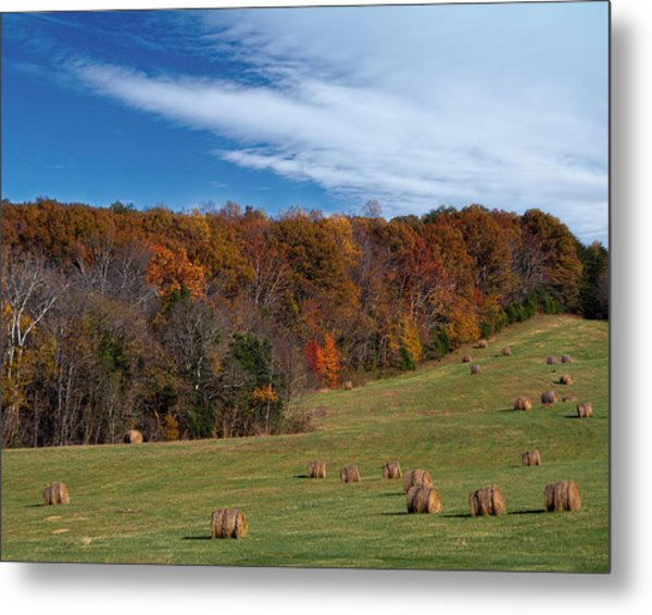 Metal Print featuring the photograph Fall On The Farm by Jemmy Archer
