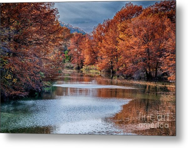 Fall On The Guadalupe Metal Print