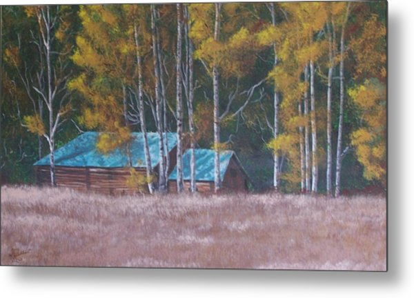 Fall On The Ranch Metal Print
