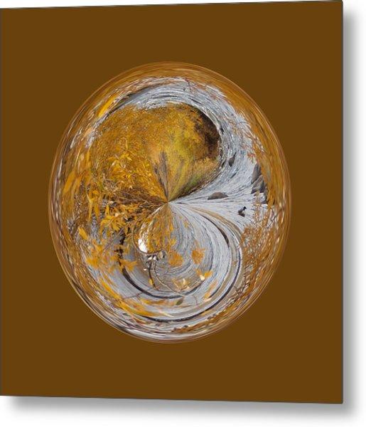 Fall Orb Metal Print