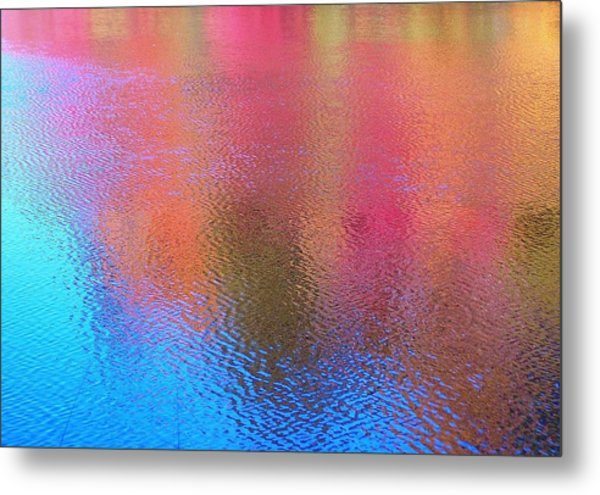 Fall Reflections In South Metal Print