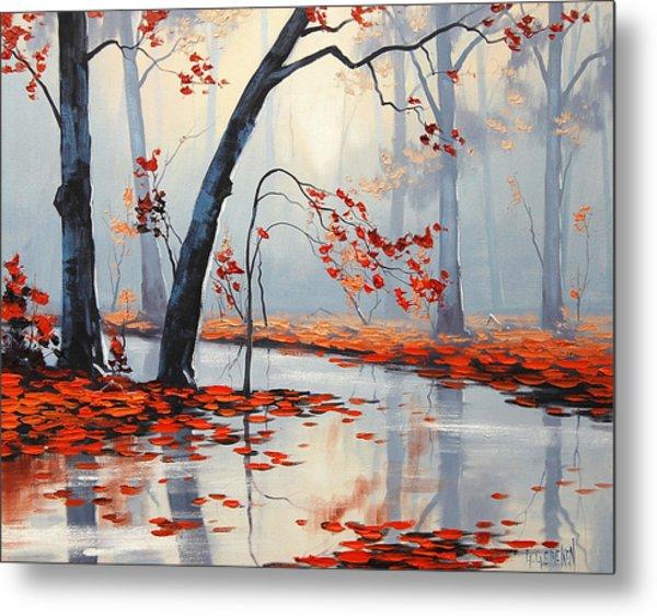 Fall River Painting Metal Print