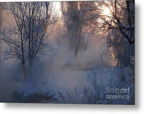 Fall River Steam Metal Print