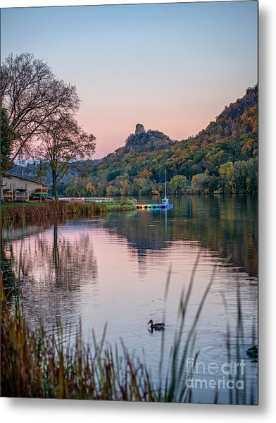 Metal Print featuring the photograph Fall Sugarloaf With Duck by Kari Yearous