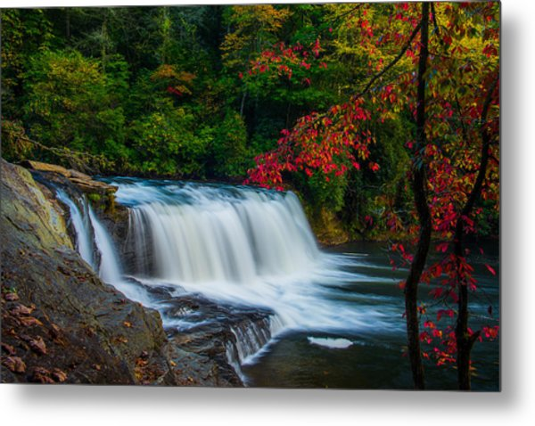 Fall Waterfall Metal Print by Griffeys Sunshine Photography