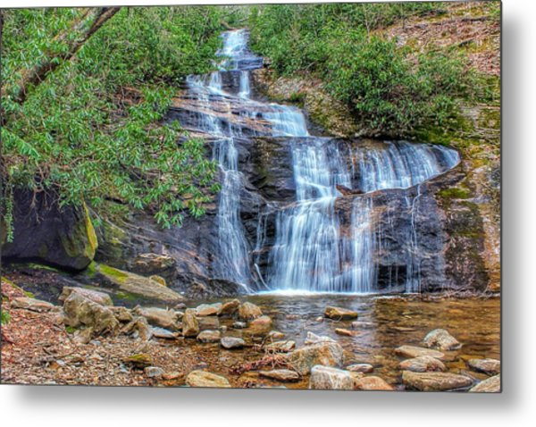 Falling From Mount Mitchell Metal Print