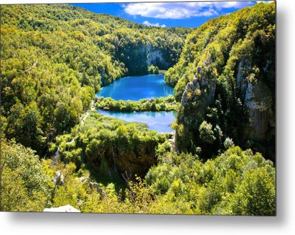 Falling Lakes Of Plitvice National Park Metal Print