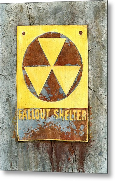 Fallout Shelter #2 Metal Print