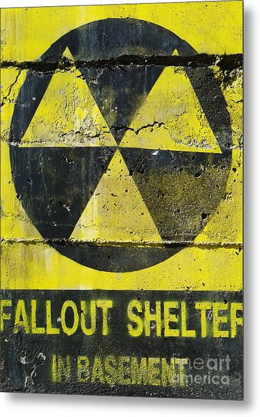 Fallout Shelter Metal Print