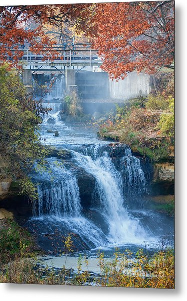 Metal Print featuring the photograph Falls At Pickwick Mill by Kari Yearous