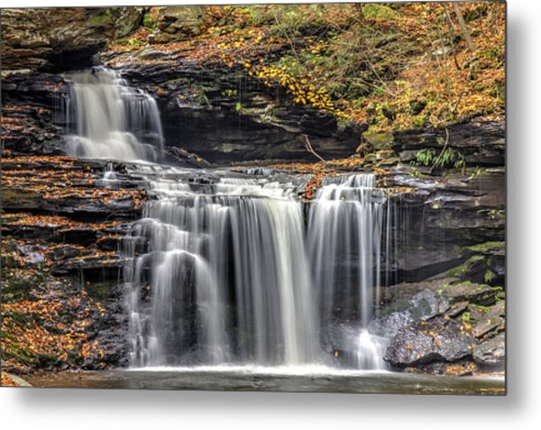 Falls At Ricketts Glen Metal Print by Zev Steinhardt