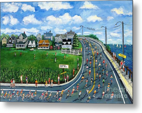 Falmouth Road Race Running Falmouth Metal Print