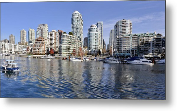 False Creek And Vancouver Metal Print