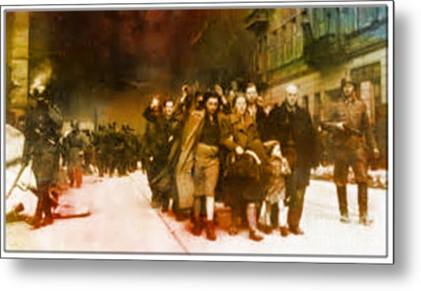 Families Sent  To Death Camps Metal Print