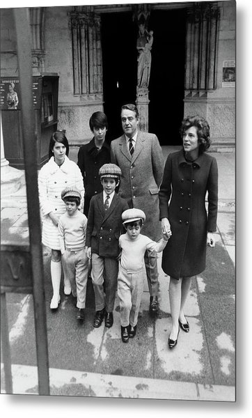 Family Portrait Of Eunice Shriver And Family Metal Print