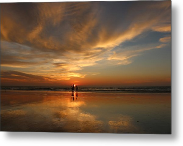 Family Reflections At Sunset - 2 Metal Print