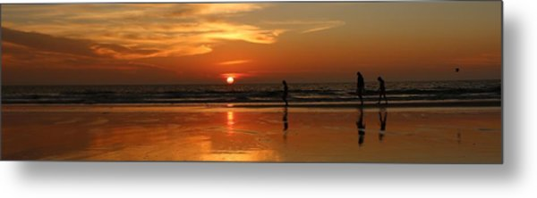 Family Reflections At Sunset - 4 Metal Print