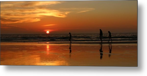 Family Reflections At Sunset - 5 Metal Print