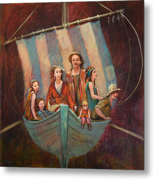 Family Vessel Metal Print by Jennifer Croom