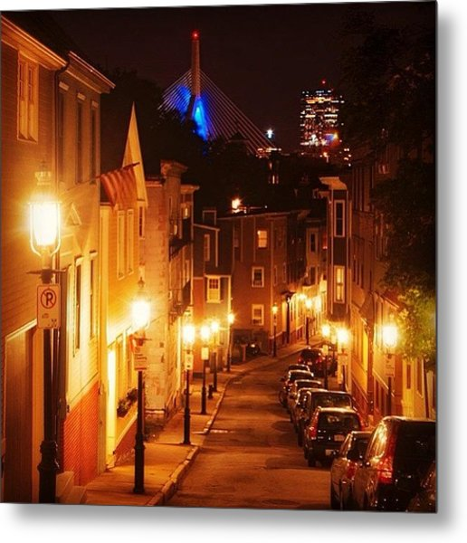 Famous Charlestown Street From The Metal Print