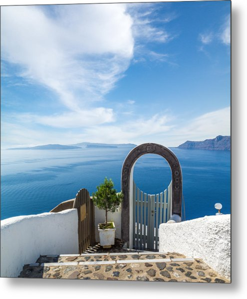 Fanastic View From Santorini Island Metal Print