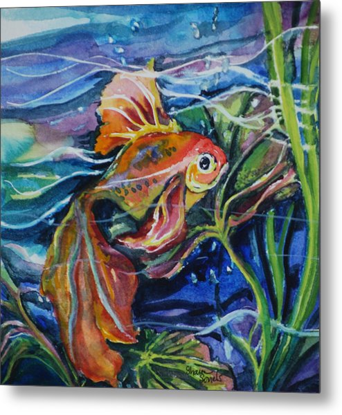 Fanciful Fish Metal Print