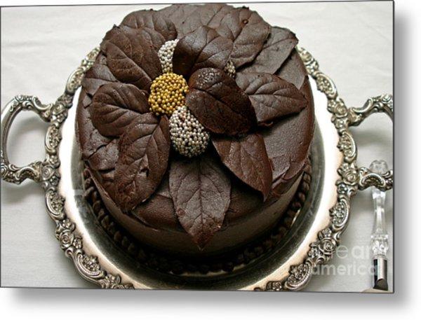 Fancy Chocolate Cake Metal Print
