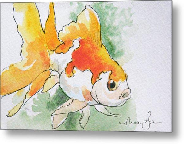 Fantail Goldfish 2 Metal Print