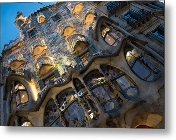 Fantastical Casa Batllo - Antoni Gaudi Barcelona Metal Print