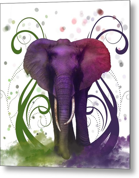 Fantasy Elepant Metal Print by Diana Shively