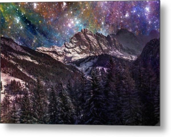 Fantasy Mountain Landscape Metal Print