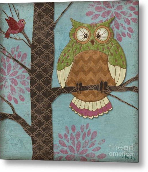 Fantasy Owls I Metal Print