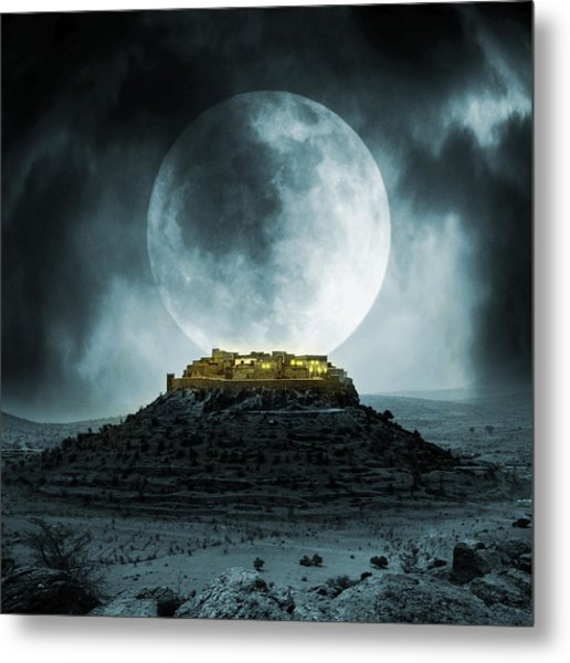 Fantasy Stronghold Metal Print