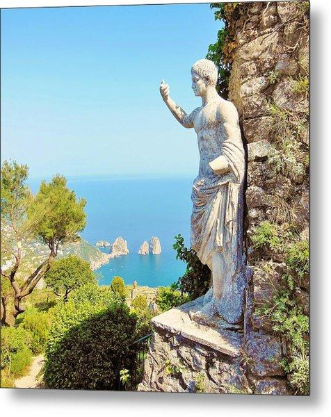 Faraglioni Rocks From Mt Solaro Capri Metal Print