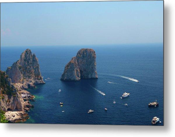 Faraglioni Rocks Of Capri Island Capri Metal Print
