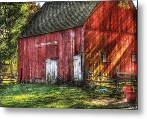 Farm - Barn - The Old Red Barn Metal Print