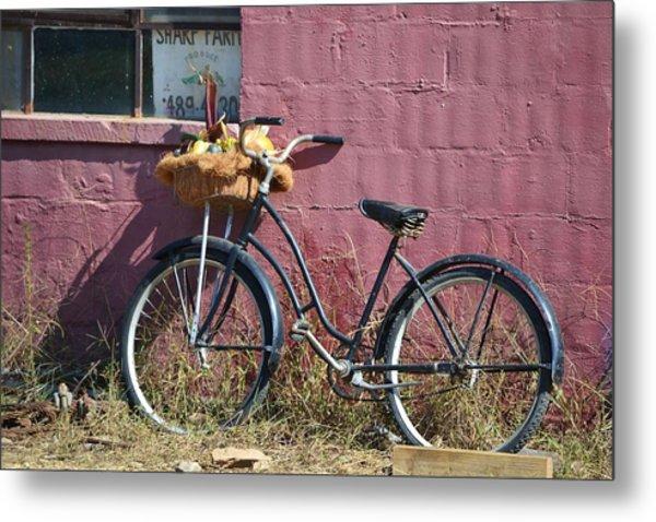 Farm Bicycle Metal Print
