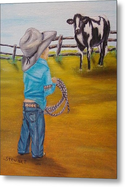 Farm Boy Painting By Nancy Stewart