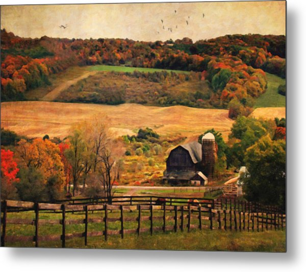 Farm Country Autumn - Sheldon Ny Metal Print