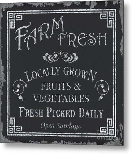 Farm Fresh Sign Metal Print