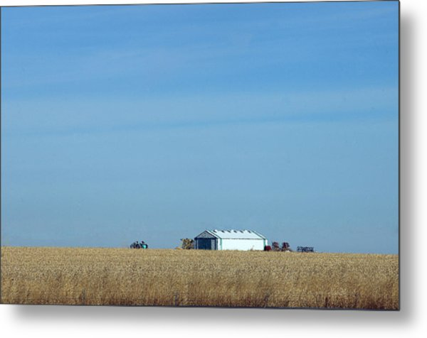 Farm House Kansas Metal Print