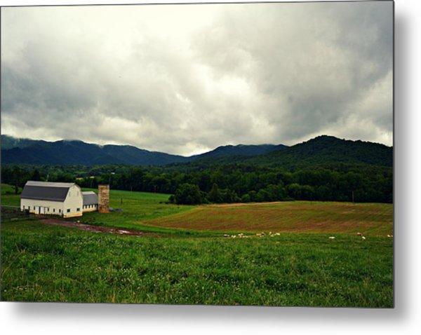 Farm In Swannanoa Nc Metal Print