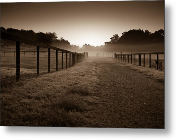 Farm Road Metal Print